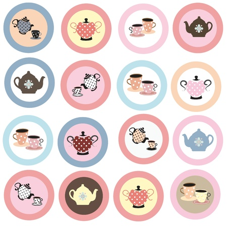 Tea cupcake toppers Stock Photo - 9685079