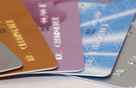 クレジット カードのクローズ アップ