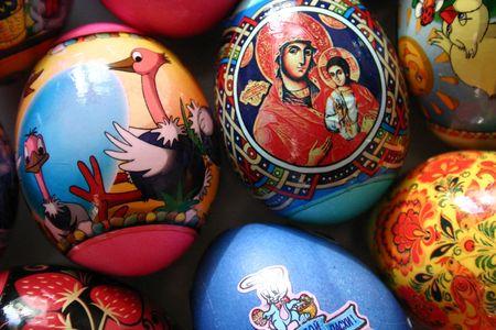 Coloured easter eggs Stock Photo