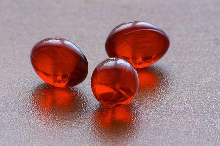 gelatine: Red gelatine pills