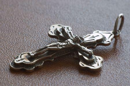 Silver pendant crucifix photo