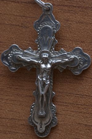 Orthodox cross (crucifix) photo