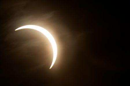 Partial solar eclipse, Novosibirsk, Russia, 29 march 2006