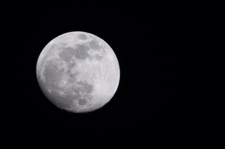 Almost full moon - 11 april 2006, 3M-CA lens (500 mm) and 2x converter (1000 mm summary)