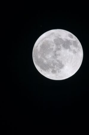 Full moon - 13 april 2006, 3M-CA lens (500 mm) and 2x converter (1000 mm summary) 스톡 콘텐츠