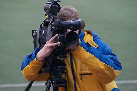 Video operator by the football match