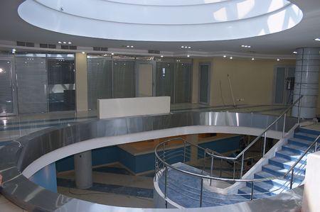 Atrium of new bank office Stock Photo