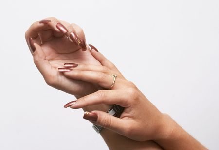Hads with french manicure Stock Photo - 498286