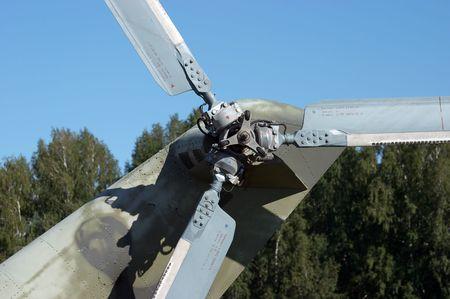 kiel: De kiel propeller van leger helikopter MI-24 Stockfoto