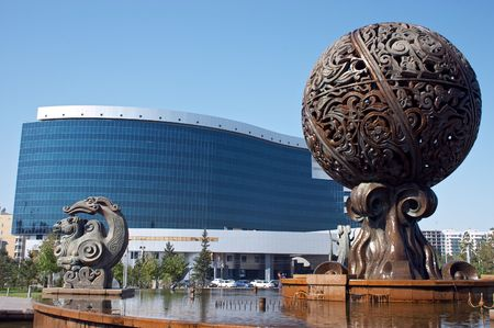 Fountain near Ministry of Finance of Kazakhstan, Astana