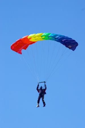 novosibirsk: Skydiver in airshow. Novosibirsk, Airport Mochishe, august 2006