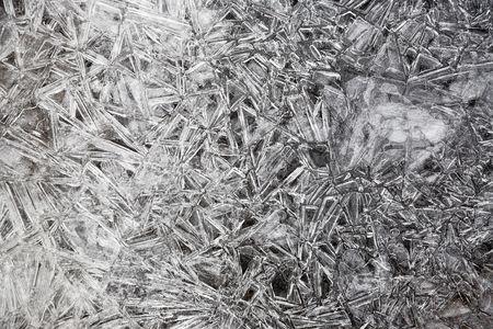 Ice texture. Natural ice in the Belokurikha river, november 2006 Stock Photo - 773787