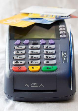 Credit card terminal (POS-terminal) for payment