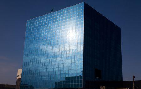 Kubieke glazen kantoor in Astana, de hoofdstad van Kazachstan