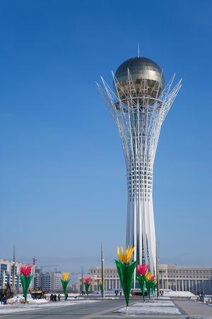 Baiterek ランドマーク、アスタナ、カザフスタンの首都のシンボル