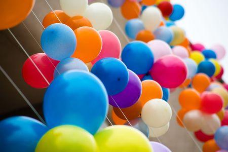 Kleurrijke lucht ballonnen. Lucht baloons festival, Novosibirsk