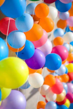 Kleurrijke lucht ballonnen. Lucht baloons festival, Novosibirsk, mei 2005