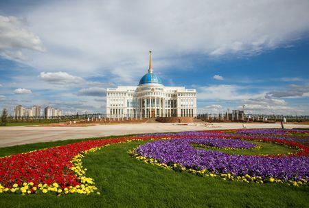 Presidents palace. Apartment of a president of Kazakhstan. Astana.