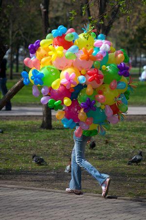 Veel kleurrijke lucht baloons