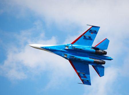 novosibirsk: Military jet at Air show, Novosibirsk