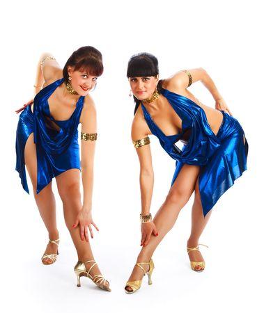 Hermoso bailarines de samba. Concurso de baile. Foto de archivo - 5308815