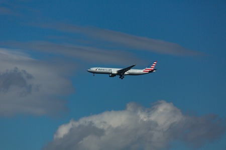 Airbus A330 approach at the airport