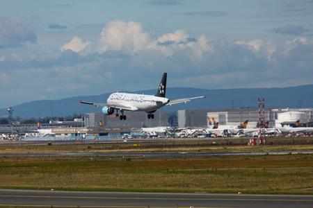 Airbus A320 Star Alliance landing