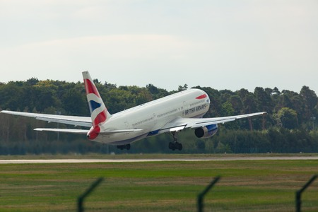 Boeing 767 takes off