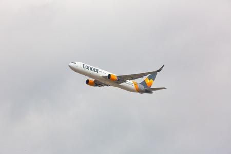 Boeing 767 Condor in the sky