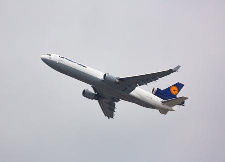 McDonnell Douglas flies in the sky