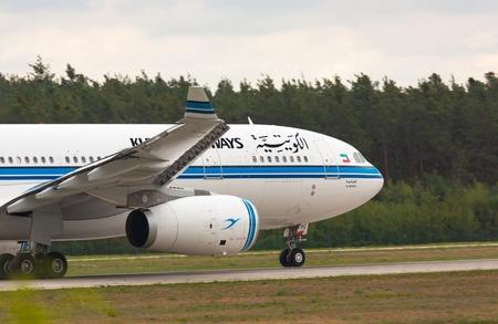 Aircraft Kuwait Airways takes off