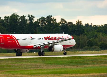 Airbus A321 AtlasGlobal takes off Redakční