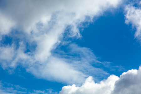 Photo of blue cloudy sky Stock Photo