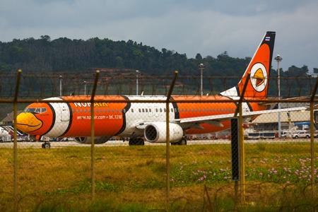 Aircraft Nok Air on the runway Editorial