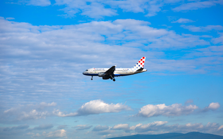 Airbus Croatia approach at the airport Redakční