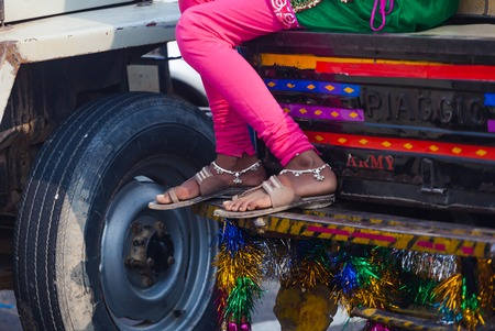 Legs of indian woman