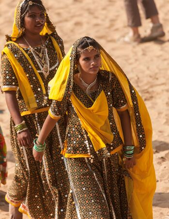 Girls from India at the festival