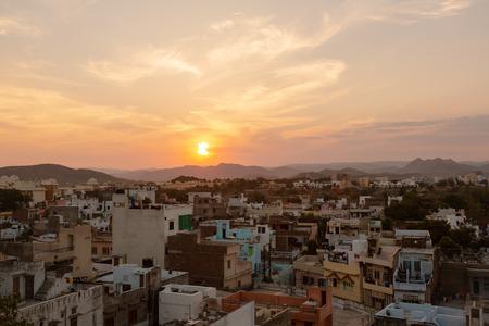 Udaipur city at sunset