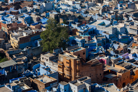 Rooftops of the blue city of Jodhpur Stock Photo