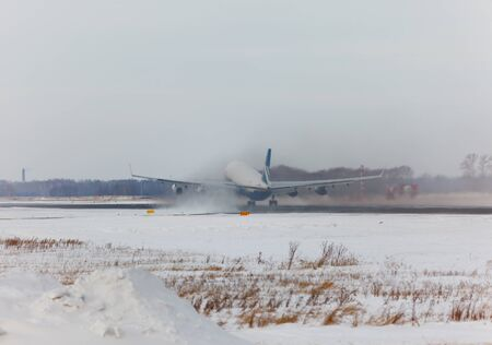 IL-96 accelerates and takes off in winter Editorial
