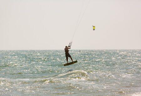 Kitesurf jumping vietnam Editorial