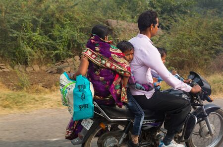 Traffic on the roads of India