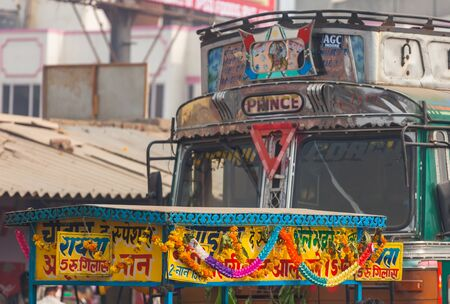 Indian city buses in Delhi