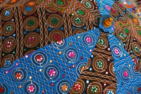 Colorful indian umbrella