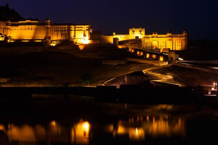 Amber Fort in the night Editorial