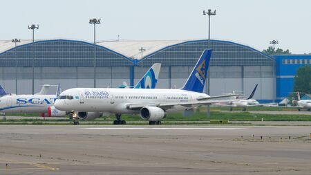 Air Astana taxiing before departure
