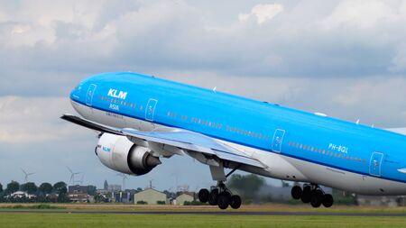 KLM Boeing 777 before departure