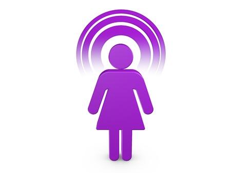 Purple ragazza spirituale con colore visibile Aura Archivio Fotografico - 8537081