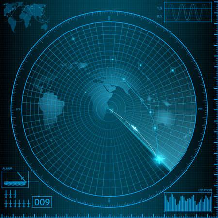 radar  monitor weapon  イラスト・ベクター素材