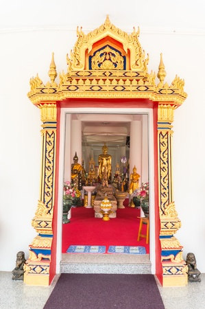 arches entrance temple,Thai decorative style gateway of thai temple photo